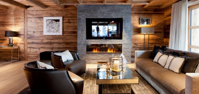 Fotos de salas r sticas con chimenea salas con estilo for Sala rustica moderna