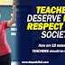 Teachers Deserve More Respect from Society