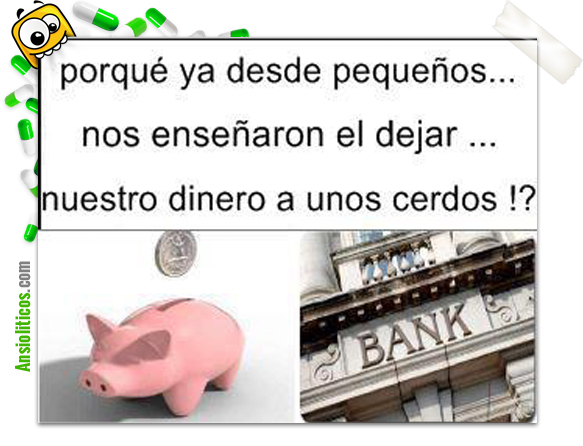 Chiste de Bancos: Ahorrar en Cerdos