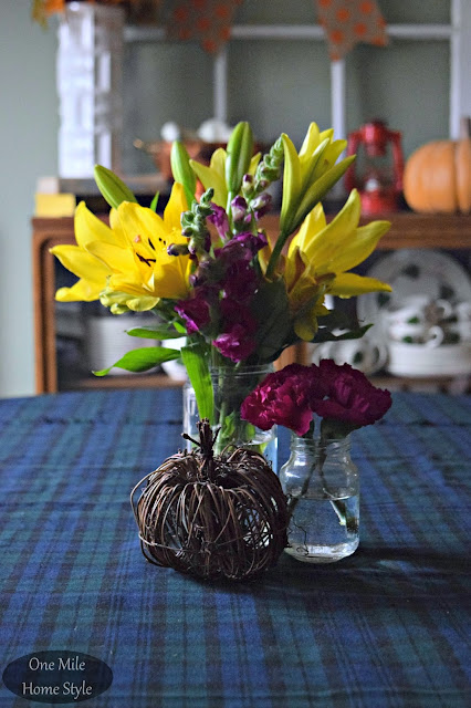 Supermarket Flowers into 3 Beautiful Centerpieces - Elegant Look #3 | One Mile Home Style