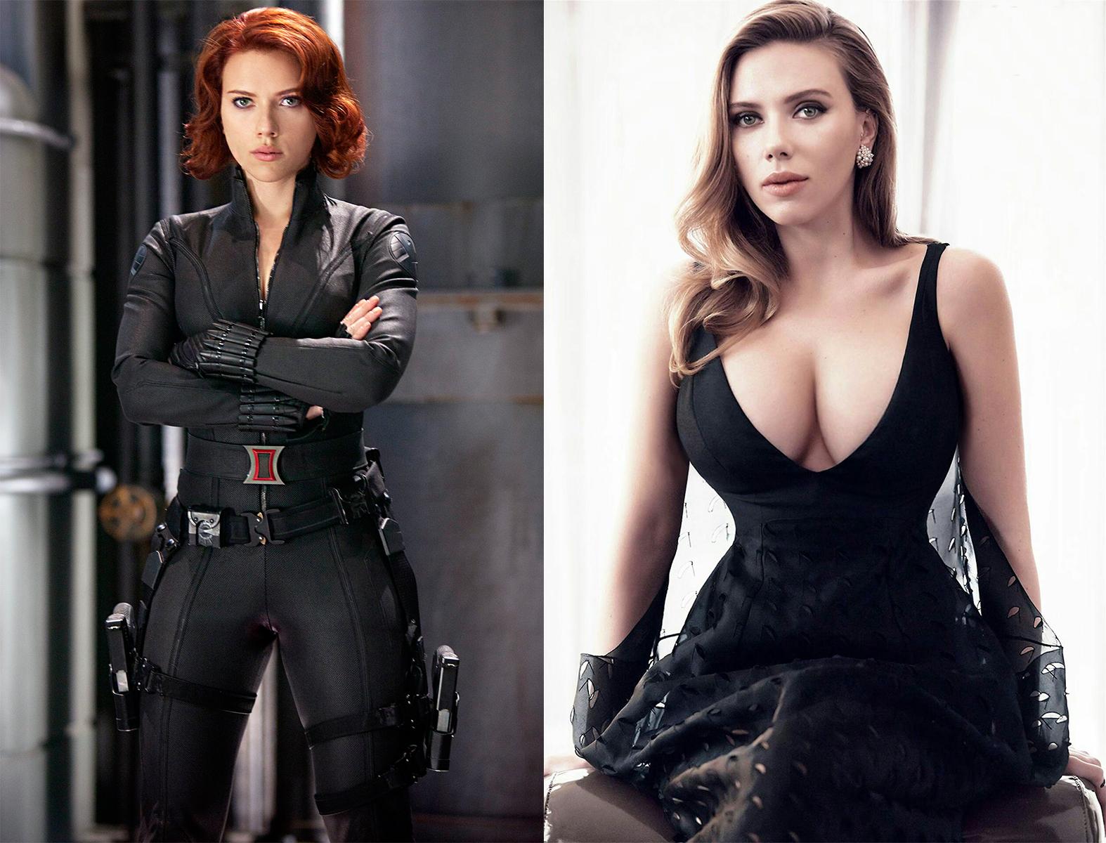 cewek seksi dan manis Superhero manis dan seksi Scarlett Johansson