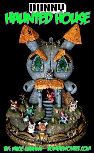 "The Mega Dunny Haunted House 20"" Custom Vinyl Figure by Mikie Graham"