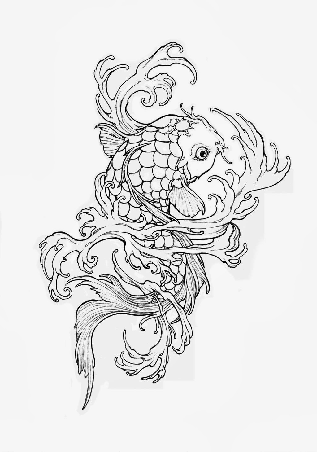 Koi Fish Realistic Coloring Pages Coloring Pages