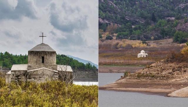 βυθισμένο εκκλησάκι της Παναγίας