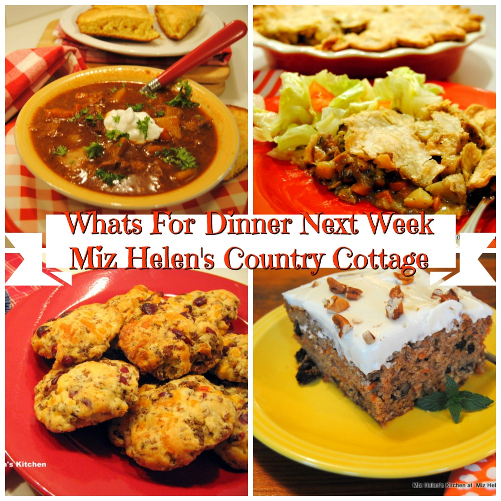 Whats For Dinner Next Week * Week of 12-1-19