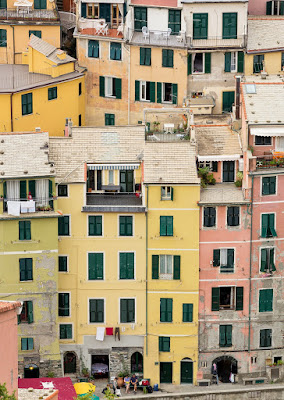 Tall Buildings in Vernazza, Cinque Terre, Italy