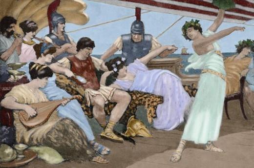 Los griegos y su mitolog a for Costumbres de grecia