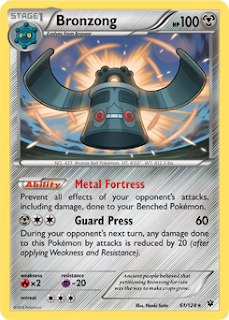 Bronzong Fates Collide Pokemon Card