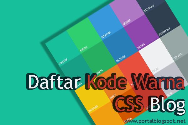 Daftar Kode Warna CSS Blog