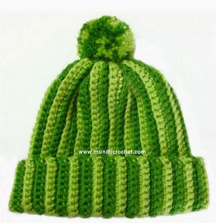 http://www.mundocrochet.com/gorro-crochet-con-rayas-verticales-patron-y-paso-paso-o-tutorial/