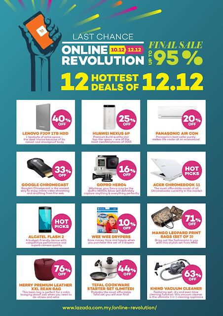 Harga terlajak murah di Lazada Online Revolution Sale.