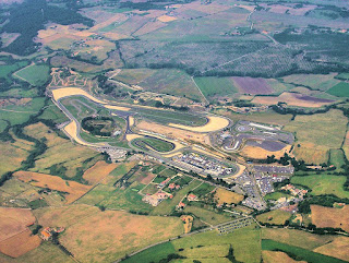 The Vallelunga racing circuit from the air