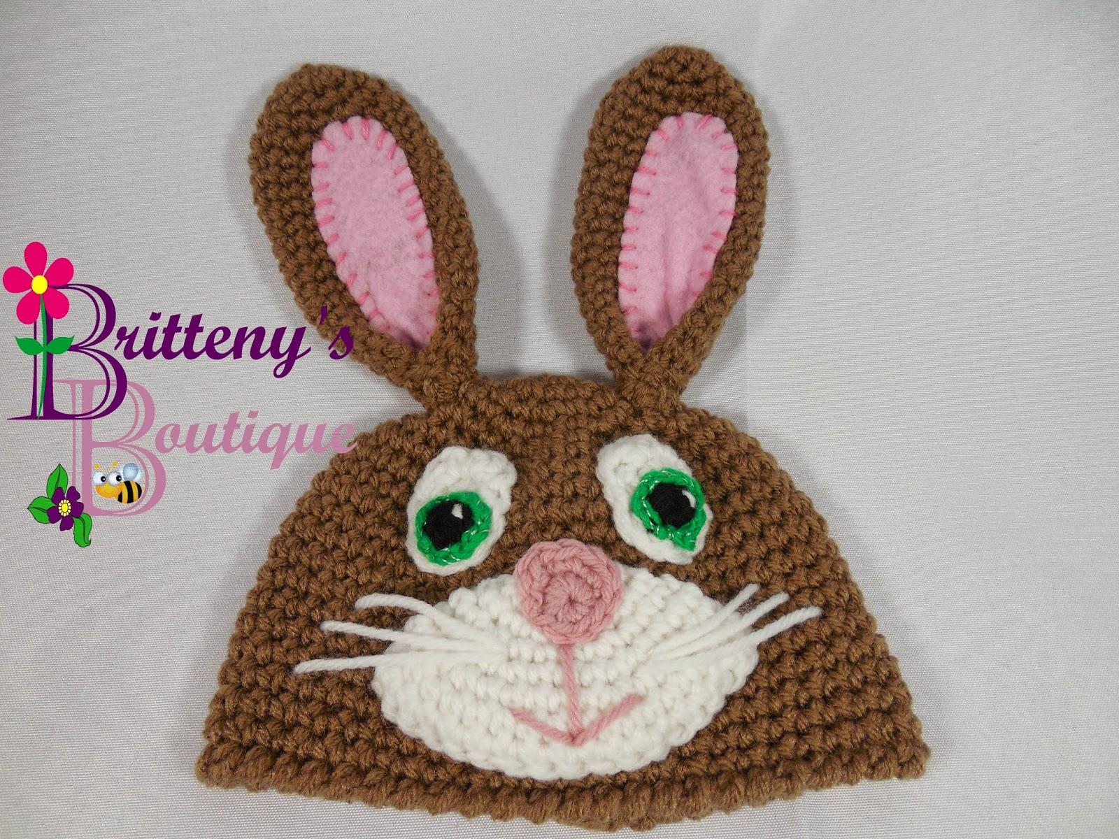Britteny Off the HOOK!!  Bunny Rabbit Hat - Crochet Pattern - FREE PDF 35bc2129c75