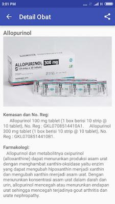 Fungsi dan detail obat