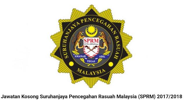 50 Jawatan Kosong Suruhanjaya Pencegahan Rasuah Malaysia (SPRM) 2017/2018