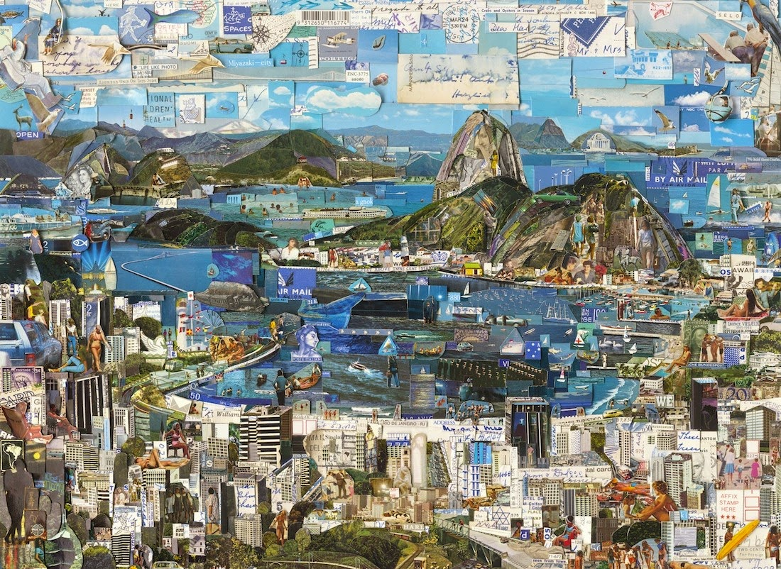 Simply Creative Shredded Postcard Collages By Vik Muniz