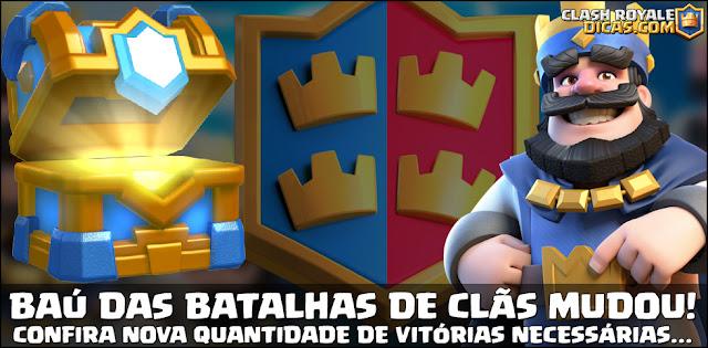 Requisitos de vitórias para Baú de Batalhas de Clãs mudou