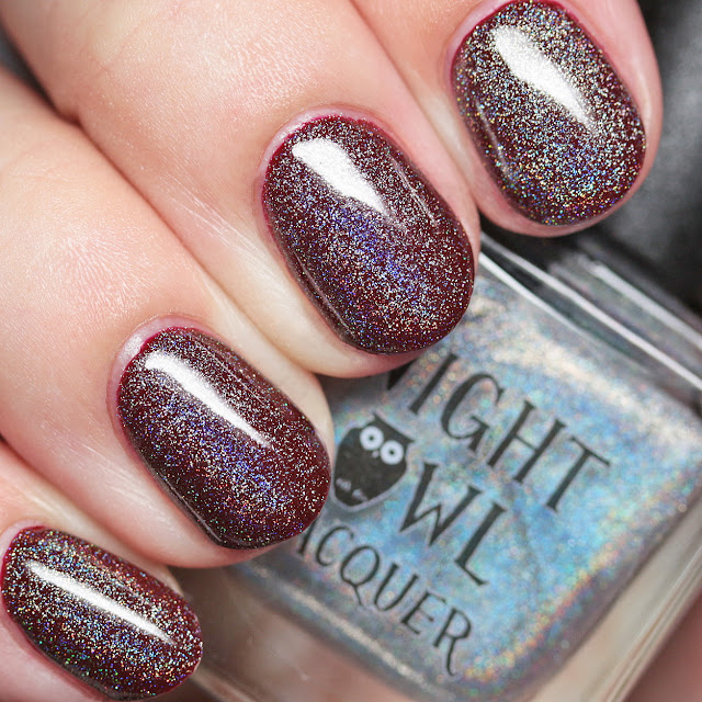Night Owl Lacquer Just Like Magic over Bite Me