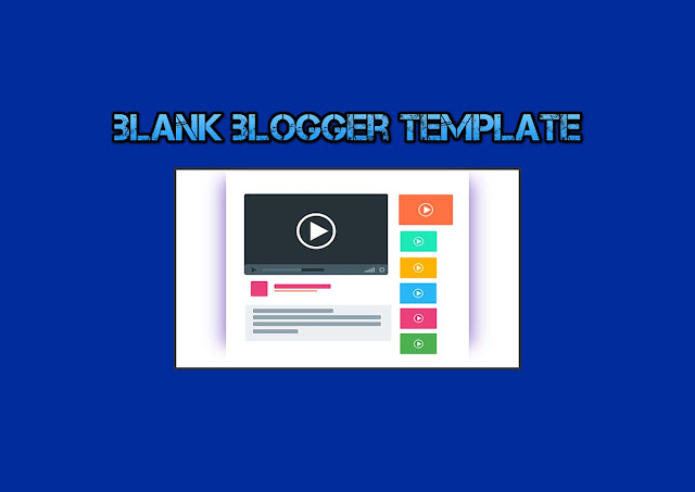 Smple and blank blogger template without js