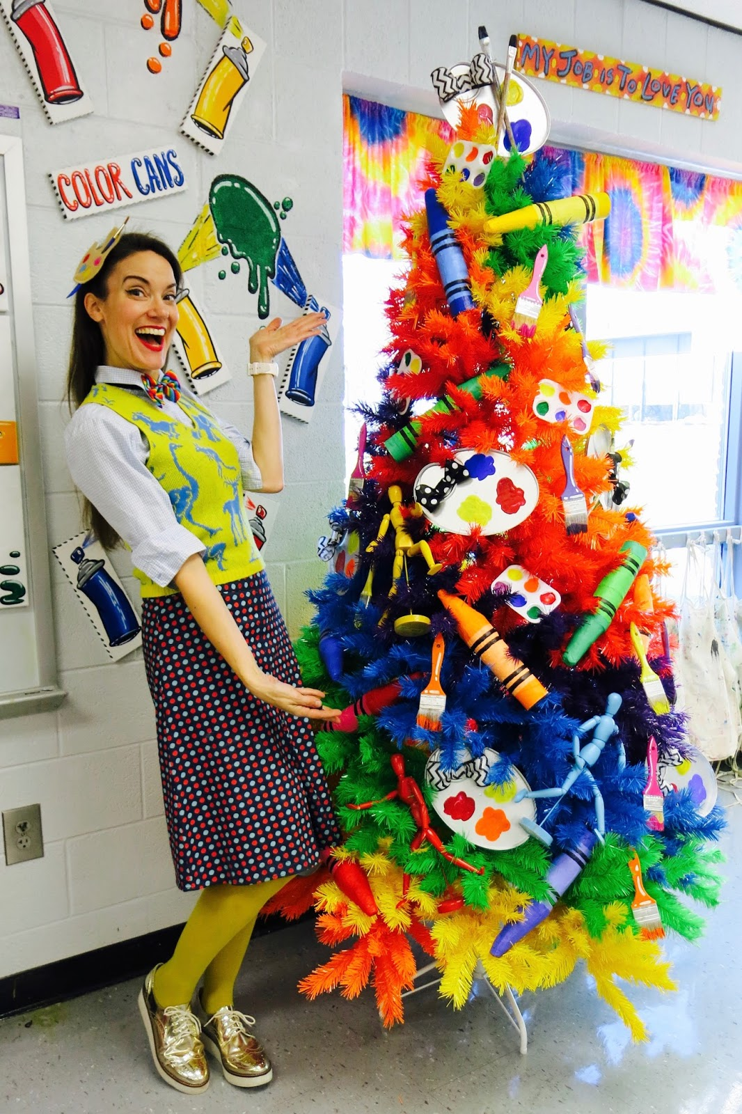 Cassie Stephens Art Room Rainbow Tree And A New Mural