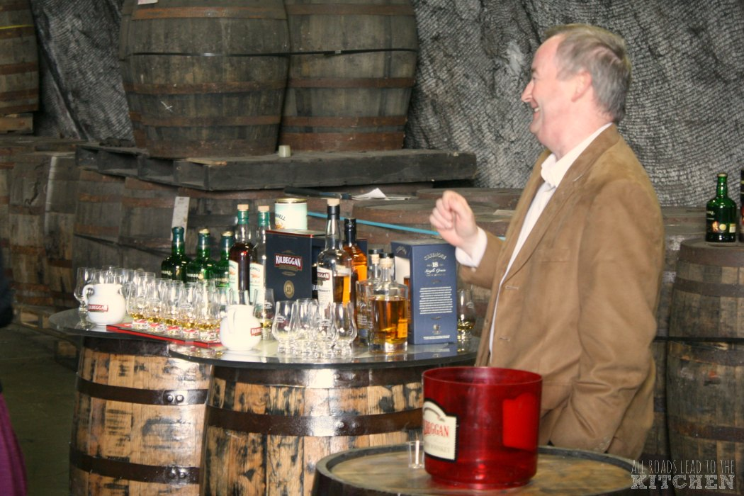Master Blender Noel Sweeney guides us on our Kilbeggan tasting course.