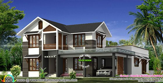 2655 square feet modern sloping roof home