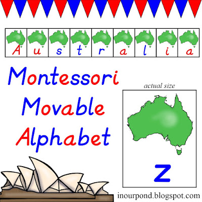 FREE Australia-themed Movable Alphabet from In Our Pond