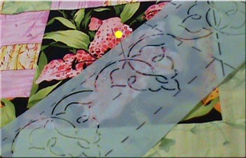 How to use quilting stencils with Sally Terry Professional Machine Quilting and Classes
