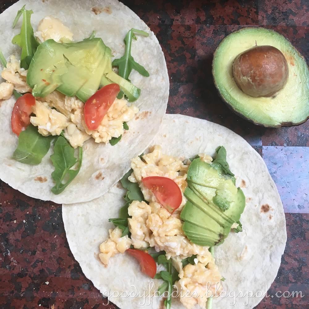 Breakfast Wraps Recipe: GoodyFoodies: Recipe: Vegetarian Breakfast Wraps