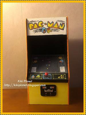 kiki monchhichi miniature pac-man borne arcade fait main handmade bois