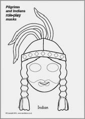 early play templates: Pilgrim and Native American