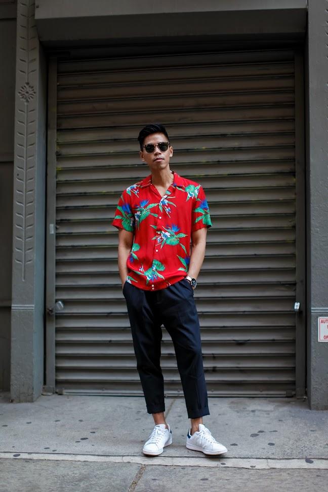 Look Masculino com Camisa Estampada Verão 2018