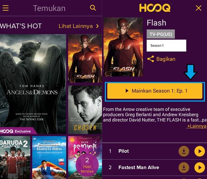 Hasil gambar untuk aplikasi Hooq