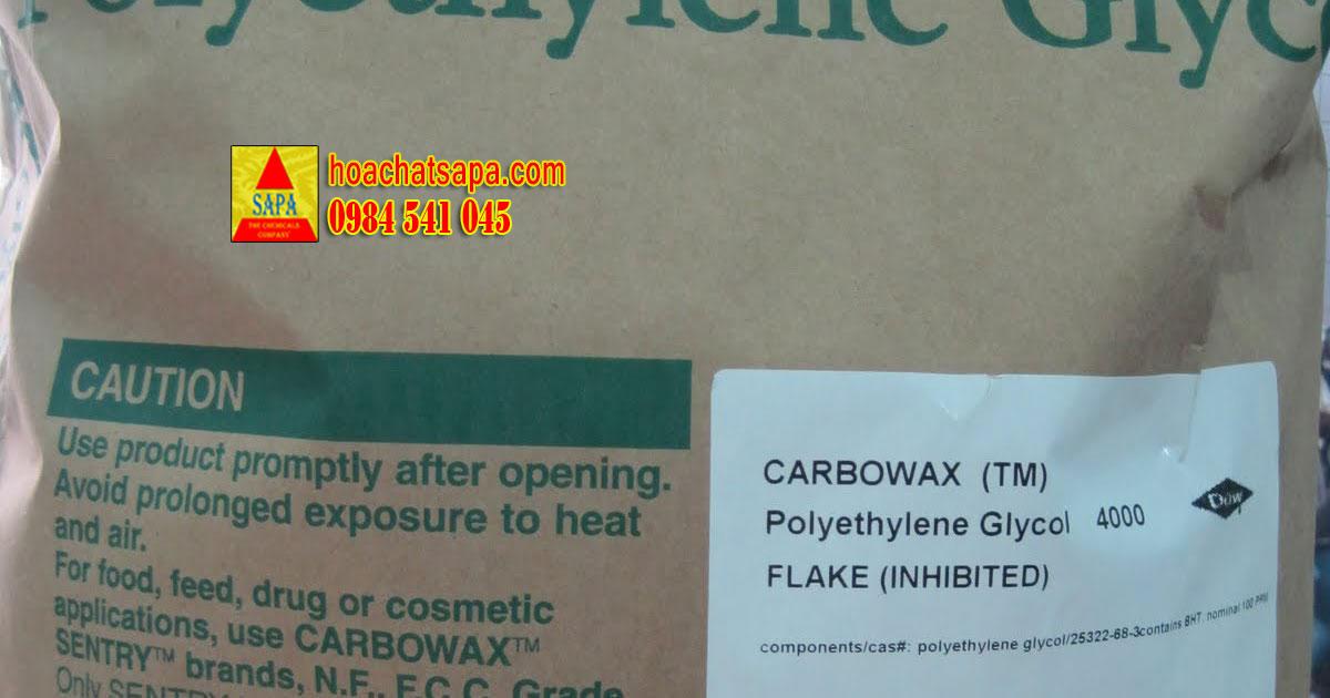 Hóa Chất SAPA | PEG 4000 Dow | Carbowax Polyethylene Glycol