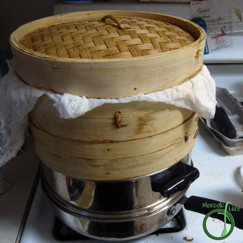 Morsels of Life - Shu Mai (燒賣) Step 8 - Make sure the steamer is properly sealed and you have enough water in your pot.
