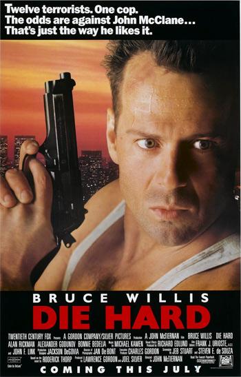Poster Of Die Hard 1988 720p Hindi BRRip Dual audio Full Movie Download