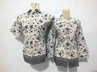 model baju batik kerja guru pria wanita