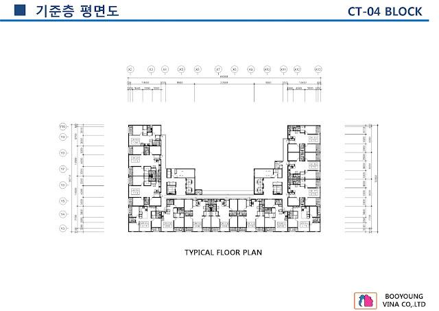 Mặt Bằng Thiết Kế CT7-CT4 Chung Cư Booyoung Vina