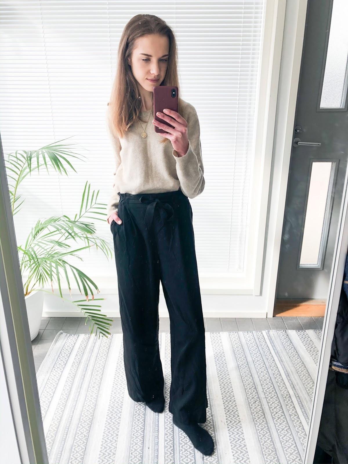 Fashion blogger work from home outfit - Kotitoimisto, asuinspiraatio, muotibloggaaja