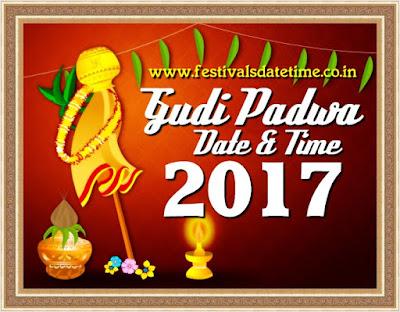 2017 Gudi Padwa Festival Date & Time in India