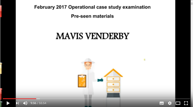 Operational Case Study February 2017 - CIMA (OCS) - MAVIS VENDERBY  - Pre-seen video analysis