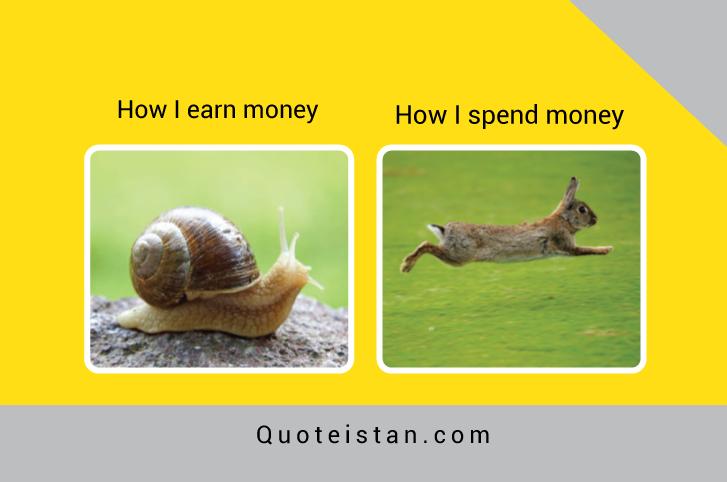 How I earn money vs How I spend money