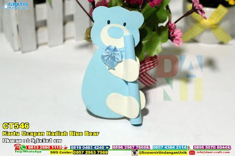 Kartu Ucapan Hadiah Blue Bear
