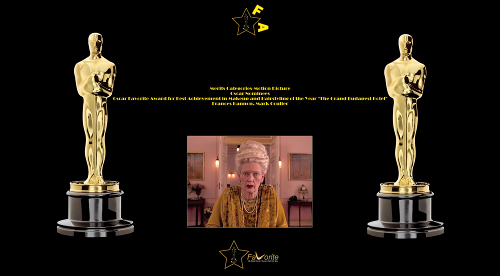 oscar favorite best achievement in makeup and hairstyling award the grand budapest hotel