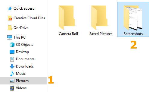 Lokasi folder penyimpanan otomatis hasil screenshot
