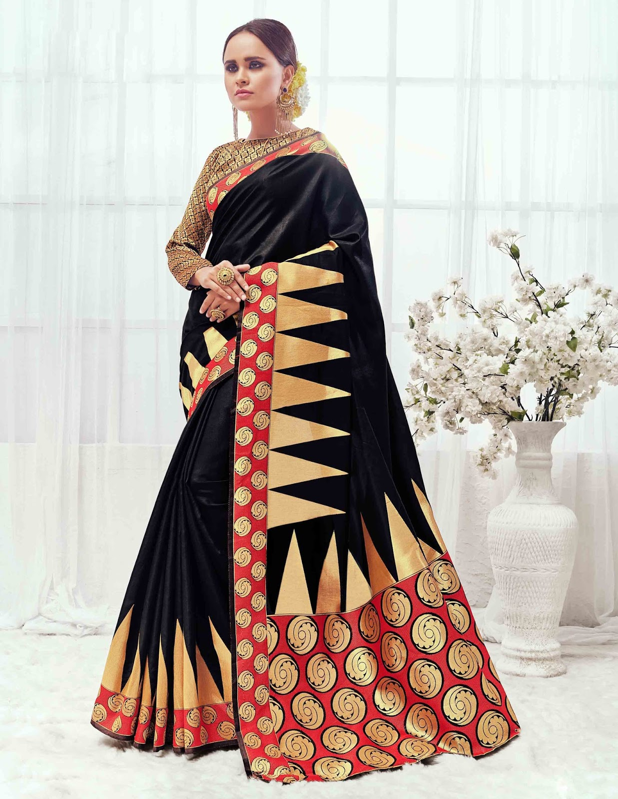 Zaveri – Latest Cotton Silk Designer Saree Buy Online