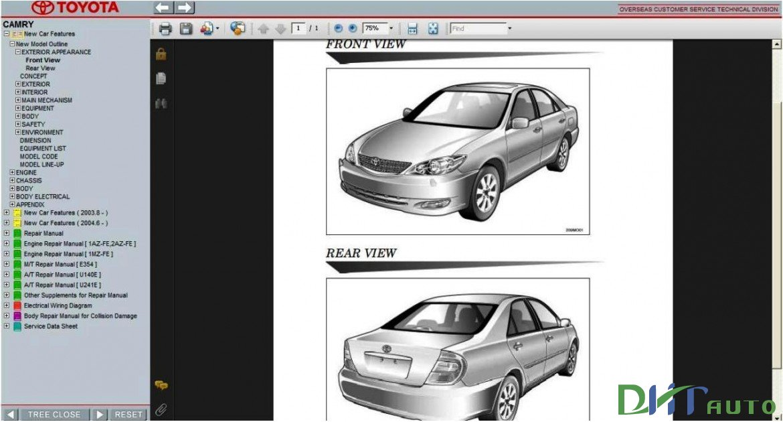 TOYOTA CAMRY SERVICE & REPAIR MANUAL UPDATE 2005 | Toyota Workshop Manual