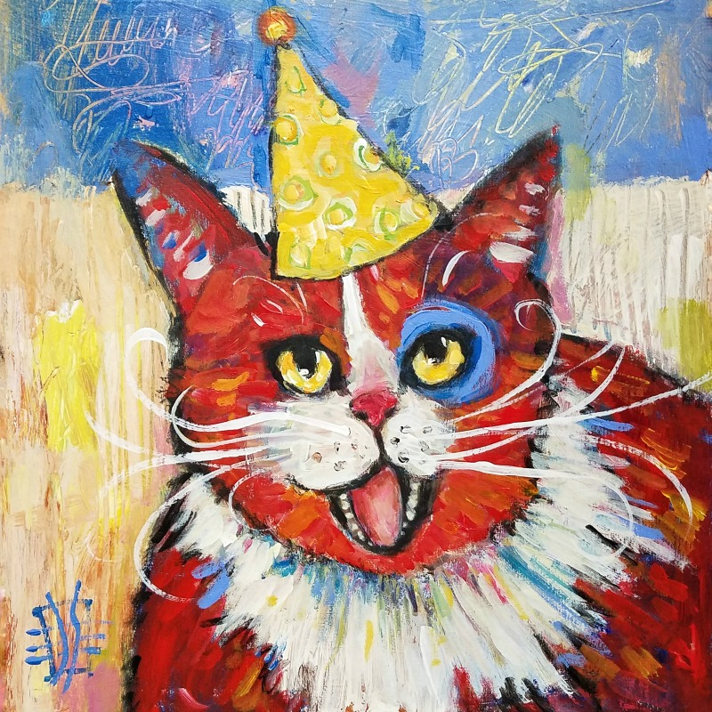 CAT #20 Tommy Celebrates #30cats by Joanie Springer