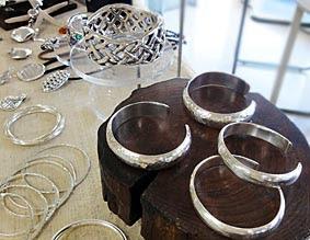 modern silver bangles