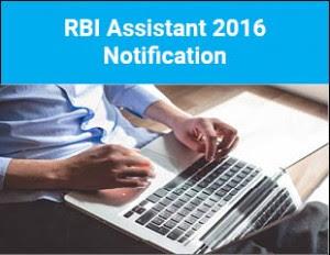 RBI Assistant Recruitment 2016- 17
